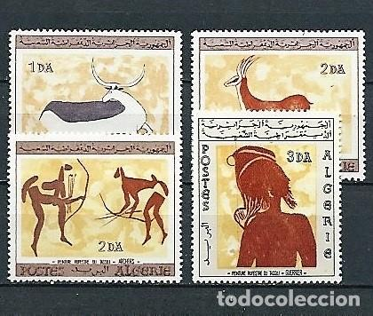 ARGELIA,1967,PINTURAS RUPESTRES,NUEVOS,MNH**,YVERT 437-440 (Sellos - Extranjero - África - Argelia)