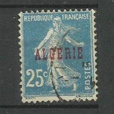 Timbres: FRANCIA COLONIAS- USADO - ALGERIE 1925 HABILITADO. Lote 135343906