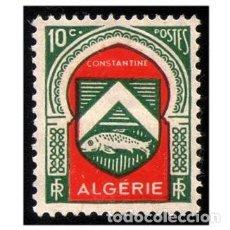 Sellos: ARGELIA 1947. MI 261, YT 254. MILITARES. ESCUDO DE ARMA DE CONSTANTINO. USADO. Lote 141194414