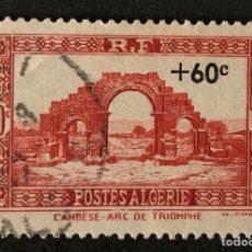 Sellos: SELLO CLÁSICO USADO DE ARGELIA CON SOBRETASA- ARCO DEL TRIUNFO. Lote 147433232