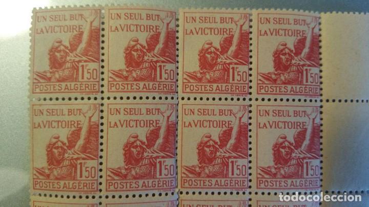 Sellos: 12 SELLOS ANTIGUOS DE POSTES DE ALGERIE 1,50 F - UN SEUL BUT LA VICTOIRE - Foto 2 - 150747194