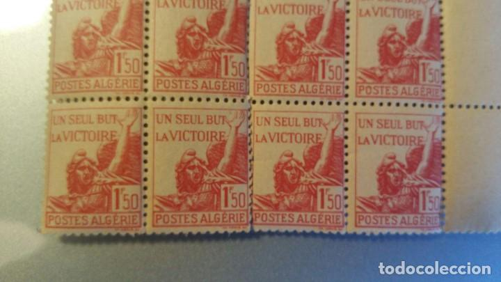 Sellos: 12 SELLOS ANTIGUOS DE POSTES DE ALGERIE 1,50 F - UN SEUL BUT LA VICTOIRE - Foto 3 - 150747194