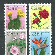 Sellos: ARGELIA - CORREO YVERT 484/7 ** MNH FLORES. Lote 151259713