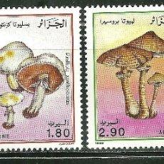 Sellos: ARGELIA 1989 SC 908/11 *** FLORA - SETAS - CHAMPIÑONES. Lote 166992236