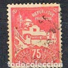 Sellos: ARGELIA IVERT 49, MEZQUITA DE LOS PESCADORES, AÑO 1926, USADO. Lote 175622637