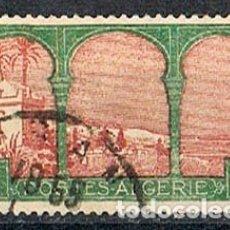 Sellos: ARGELIA IVERT 51, BAHÍA DE ARGEL. AÑO 1926, USADO. Lote 175622803