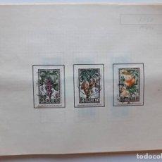 Sellos: 1950-1952 ARGELIA 2 HOJAS DE ALBUM CON 8 SELLOS. Lote 179345317