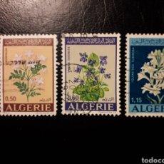 Sellos: ARGELIA. YVERT 551/3 SERIE COMPLETA USADA. FLORA. FLORES.. Lote 180046285