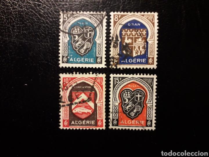 ARGELIA. YVERT 268/71. SERIE COMPLETA USADA. ESCUDOS. (Sellos - Extranjero - África - Argelia)