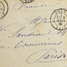 Sellos: ARGELIA. SOBRE YV FRANCIA 90. 1880. 15 CTS AZUL. ORAN A PARIS. MATASELLO ORAN / ORAN. MAGNIFICA. RE. Lote 183123626