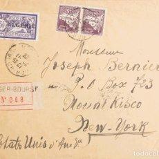 Sellos: ARGELIA. SOBRE YV 32, 46(2). 1926. 3 FR VIOLETA Y 45 CTS VIOLETA, PAREJA. CERTIFICADO DE ARGEL A MO. Lote 183123846