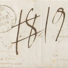 Sellos: ARGELIA, PREFILATELIA. SOBRE YV . 1838. ARGEL A LESNEVEN (FRANCIA) (EN EL INTERIOR SE MENCIONA EN V. Lote 183139272