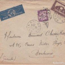 Sellos: CARTA DE ORAN (ARGELIA) A BURDEOS, CON SELLO 120 Y TAXA DE FRANCIA CON MARCA . Lote 184168556