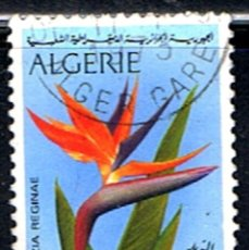 Sellos: SELLO ARGELIA // YVERT 571 // 1973 ... FLOR : STRELITZIA REGINAE .. USADO. Lote 186152811