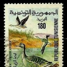Sellos: TUNEZ SCOTT: 1067-(1994) (PARQUE NACIONAL ICHKEUL - GANSO) USADO. Lote 193764058
