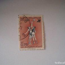 Sellos: ARGELIA JUEGOS MEDITERRANEOS BALONCESTO 1971 USADO. Lote 199418487