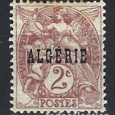 """Francobolli: ARGELIA 1924-26 - SELLO DE FRANCIA SOBREIMPRESO """"ALGÉRIE"""" - SELLO NUEVO C/F*. Lote 205659396"""