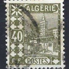 Sellos: ARGELIA 1926 - VISTA DE LA CIUDAD ANTIGUA, MEZQUITA DE SIDI ABDERAHMAN - SELLO USADO. Lote 205660958