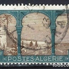 Sellos: ARGELIA 1926 - BAHÍA DE ARGEL - SELLO USADO. Lote 205661375
