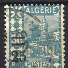 Sellos: ARGELIA 1927 - SELLO DE 1926 SOBRECARGADO - SELLO USADO. Lote 205661640