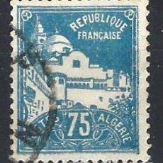 Sellos: ARGELIA 1927 - MEZQUITA DE LOS PESCADORES - SELLO USADO. Lote 205661842