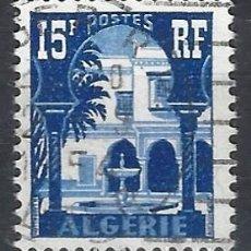 Sellos: ARGELIA 1954-55 - MUSEO DEL BARDO - SELLO USADO. Lote 205662757