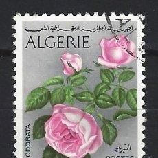 Sellos: ARGELIA 1973 - FLORA, ROSA CHINA - SELLO USADO. Lote 205665691