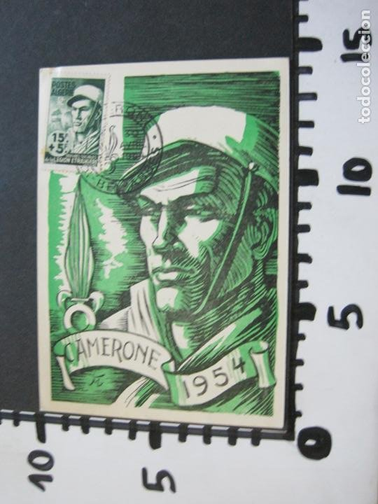 Sellos: ARGELIA-SIDI BEL ABBES-CAMERONE 1954-POSTAL PRIMER DIA OBRAS SOCIALES LEGION ETRANGERE-(71.746) - Foto 4 - 208783356