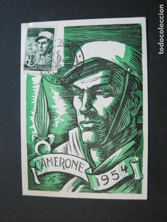 ARGELIA-SIDI BEL ABBES-CAMERONE 1954-POSTAL PRIMER DIA OBRAS SOCIALES LEGION ETRANGERE-(71.746) (Sellos - Extranjero - África - Argelia)