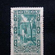 Sellos: ARGELIA, ARGERIE, 20C, CIMETIERE, AÑO 1963.. Lote 208970360