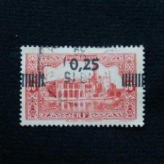 Sellos: ARGELIA, RF, 0,25, HEXSAGONE, AÑO 1937. SOBREESCRITO.. Lote 213496332