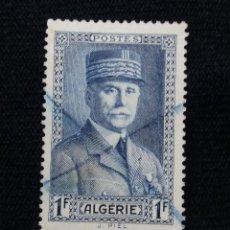 Sellos: ARGELIA, RF, 1F, THE MARSHAL, AÑO 1941.. Lote 213499022
