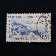 Sellos: ARGELIA, RF, 65C, CENTENAIRE PHILIPP, AÑO 1938.. Lote 213500933