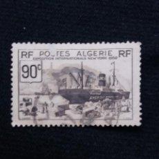 Sellos: ARGELIA, RF, 90C, EXPOSICION INTER. NEW YORK, AÑO 1930.. Lote 213501246