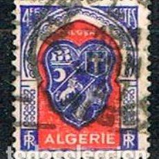 Sellos: ARGELIA IVERT Nº 264, ESCUDO DE ARGEL, USADO. Lote 214370396