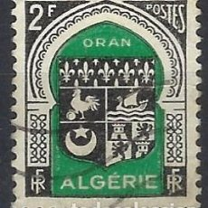 Francobolli: ARGELIA 1947-49 - ESCUDO DE ORÁN - USADO. Lote 215099956