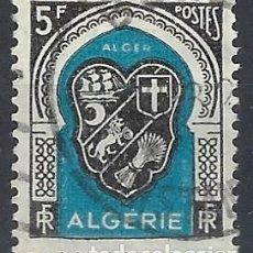 Francobolli: ARGELIA 1947-49 - ESCUDO DE ARGEL - USADO. Lote 215100168
