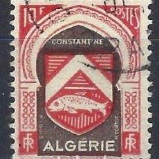 Francobolli: ARGELIA 1947-49 - ESCUDO DE CONSTANTINA - USADO. Lote 215100451