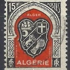 Francobolli: ARGELIA 1947-49 - ESCUDO DE ARGEL - USADO. Lote 215100542