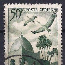 Francobolli: ARGELIA 1949 - CORREO AÉREO, MEZQUITA Y CIGÜEÑAS - USADO. Lote 215101005