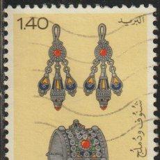 Sellos: ARGELIA 1980 SCOTT 653 SELLO º JOYAS EARRINGS, BRACELET MICHEL 764 YVERT 725 ALGERIE STAMPS TIMBRE. Lote 215928563
