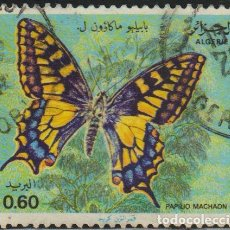 Sellos: ARGELIA 1981 SCOTT 668 SELLO º FAUNA MARIPOSAS BUTTERFLIES SWALLOWTAIL (PAPILIO MACHAON) MICHEL 779. Lote 215928653