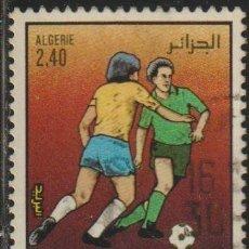 Sellos: ARGELIA 1986 SCOTT 813 SELLO º DEPORTES FUTBOL SOCCER FIFA WORLD CUPO MEXICO MICHEL 912 YVERT 870. Lote 215930707