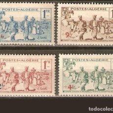 Francobolli: ARGELIA COLONIA FRANCESA YVERT NUM. 159/162 * SERIE COMPLETA CON FIJASELLOS. Lote 229522360