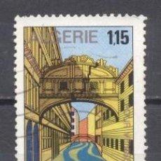 Sellos: ALGERIA, 1971, PATRIMONIO DE VENECIA, PUENTE DE LOS SUSPIROS, YVERT TELLIER 544,USADO,. Lote 254148815