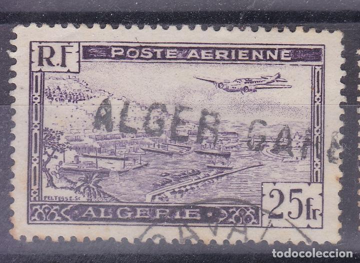 FC2-156- FRANCIA COLONIAS AÉREO ARGELIA MATASELLOS LINEAL ESTACIÓN ALGER GARE (Sellos - Extranjero - África - Argelia)