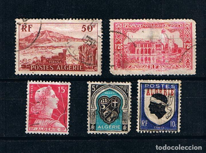 ARGELIA FRANCESA LOTE DE 5 SELLOS USADOS ANTIGUOS CLASICOS COLONIAS FRANCESAS AFRICA (Sellos - Extranjero - África - Argelia)