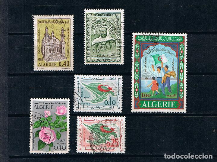 ARGELIA 1969-1972 LOTE DE 6 SELLOS USADOS (Sellos - Extranjero - África - Argelia)