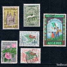 Sellos: ARGELIA 1969-1972 LOTE DE 6 SELLOS USADOS. Lote 261925670