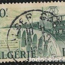 Sellos: ARGELIA FRANCESA YVERT 340, TRENES. Lote 284755628